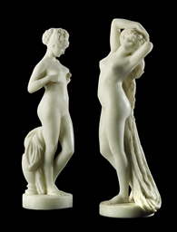 A PAIR OF FRENCH MARBLE FIGURE