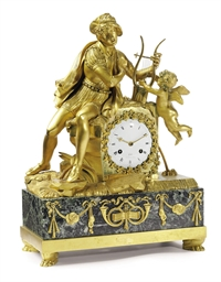 A CHARLES X ORMOLU AND MARBLE