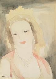 Jeune femme au rang de perles