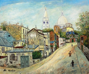 Montmartre, promeneurs Rue de