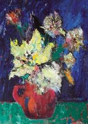 Picnet de fleurs en bleu