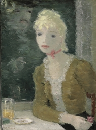 Jeune femme au Guéridon