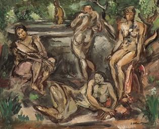 Femmes autour d'un bassin