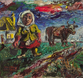 Peasant Woman with Cow