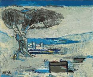 Un arbre près de ruines grecqu