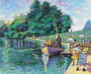 Dimanche au lac or La barque d