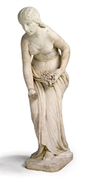 A VICTORIAN MARBLE FIGURE OF '