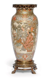 A JAPANESE SATSUMA VASE WITH G