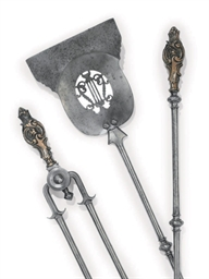 A SET OF THREE VICTORIAN STEEL
