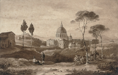 Travellers before St. Peter's