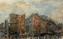 Two scenes from the Blitz