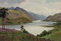 An extensive lake landscape