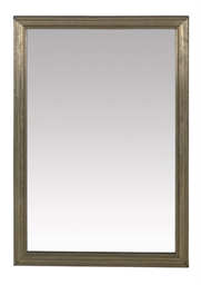 A FRENCH BRASS-FRAMED MIRROR