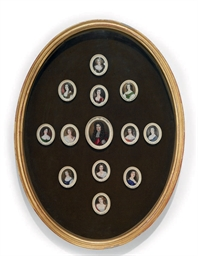 A GILTWOOD FRAME WITH PORTRAIT