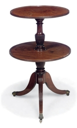 A REGENCY MAHOGANY TWO-TIER DU