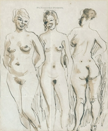 Study of three female nudes