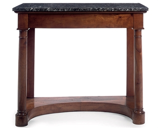 A FRENCH CHERRYWOOD CONSOLE TA