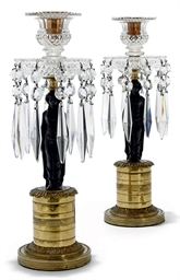 A PAIR OF WILLIAM IV BRASS, BR
