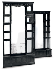 A PAIR OF VICTORIAN EBONISED D