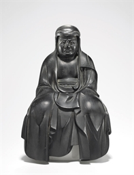 A Wood Figure of Bodhidharma (