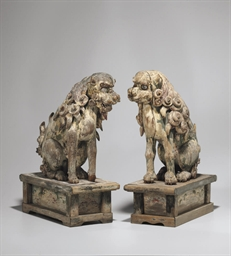 Pair of Carved and Polychromed