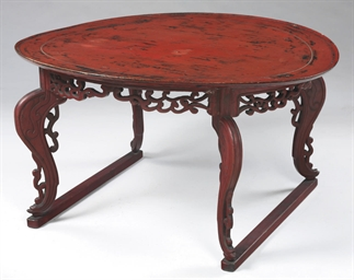 A Large Red Lacquer Table