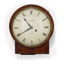 A REGENCY MAHOGANY DROP DIAL W