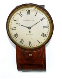A REGENCY DROP DIAL WALL CLOCK