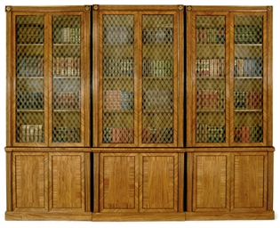 A REGENCY SATINWOOD LIBRARY BO