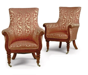 A NEAR PAIR OF WILLIAM IV MAHO
