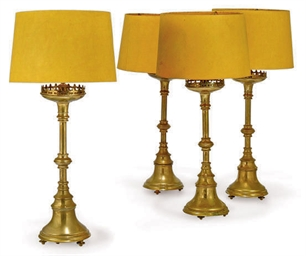 A SET OF FOUR VICTORIAN GOTHIC
