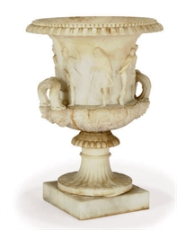 AN ITALIAN ALABASTER MODEL OF