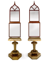 A PAIR OF GILT-BRASS AND SIENA
