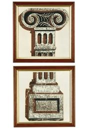 Ionic capital and Ionic plinth