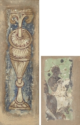 SIX PAINTED FRESCO FRAGMENTS