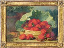 Strawberries in a basket; and a companion painting