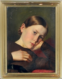 Portrait of a pensive girl