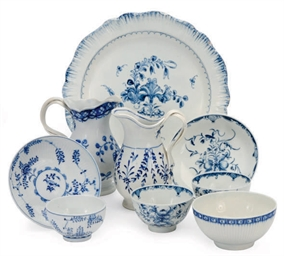 A GROUP OF ENGLISH PORCELAIN B