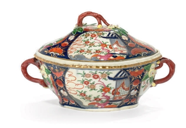 AN ENGLISH TUREEN AND COVER IN