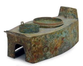 A CHINESE BRONZE STOVE,