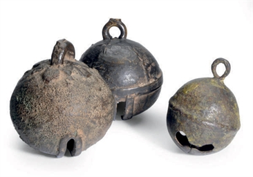 THREE CHINESE BRONZE BELLS,
