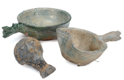 A GROUP OF THREE CHINESE POTTERY VESSELS