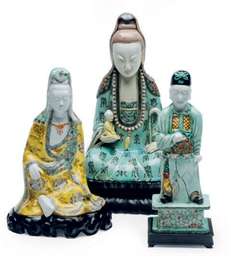THREE CHINESE PORCELAIN FAMILL
