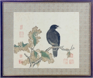 A FRAMED CHINESE PAINTING OF A