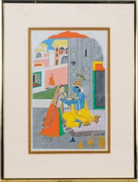 AN INDIAN MINIATURE OF KRISHNA