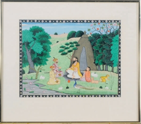 AN INDIAN MINIATURE OF ASETIC