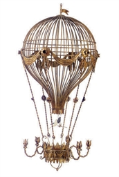 A FRENCH GILT-METAL BALLOON-FO