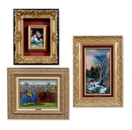 A GROUP OF SIX FRENCH FRAMED E