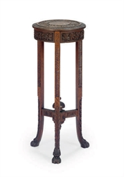 A HARDWOOD PLANT STAND,