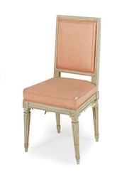 A LOUIS XVI PAINTED SIDE CHAIR